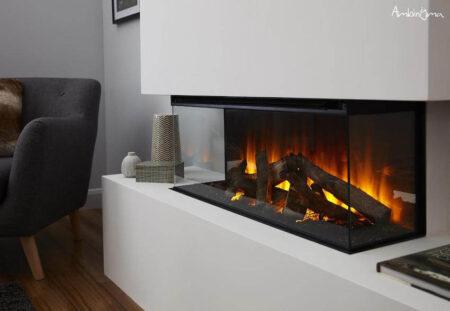 Lareira eletrica BRITISH FIRE new forest 870 Trifacial 3-vidros