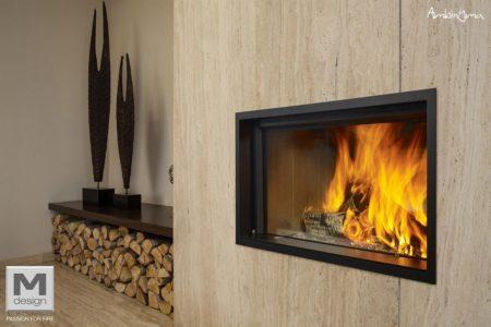 renovar lareira antiga - Lareira M.Design Argento 900 DH Dupla Face c/ Portas de Subir