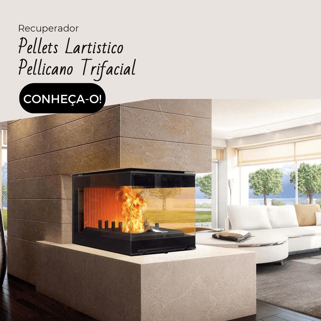 Recuperador de calor a pellets trifacial Pellicano