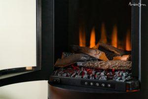 Detalha da chama da lareira elétrica Ashurst Stove