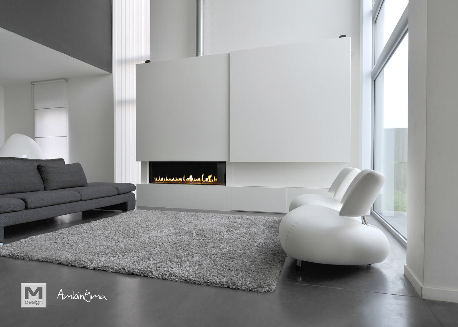 Lareira M.Design LUNA GAS DIAMOND 1150 H