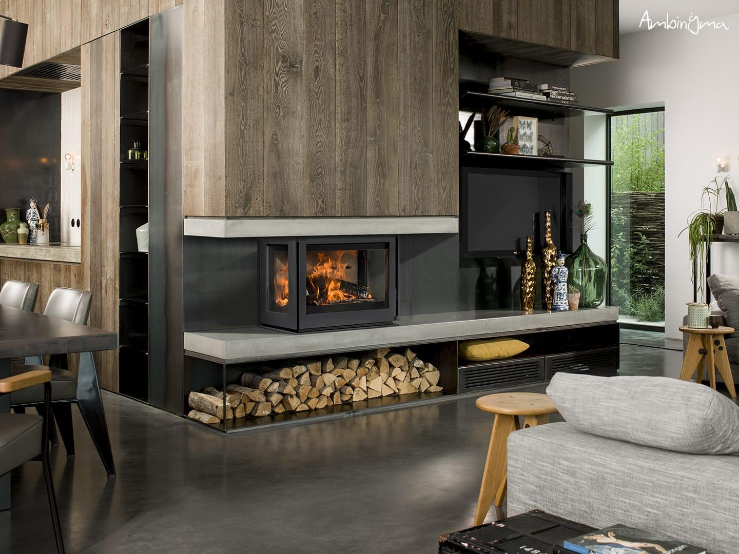 Recuperador Lenha BarbasBellfires Unilux 270 Three sided