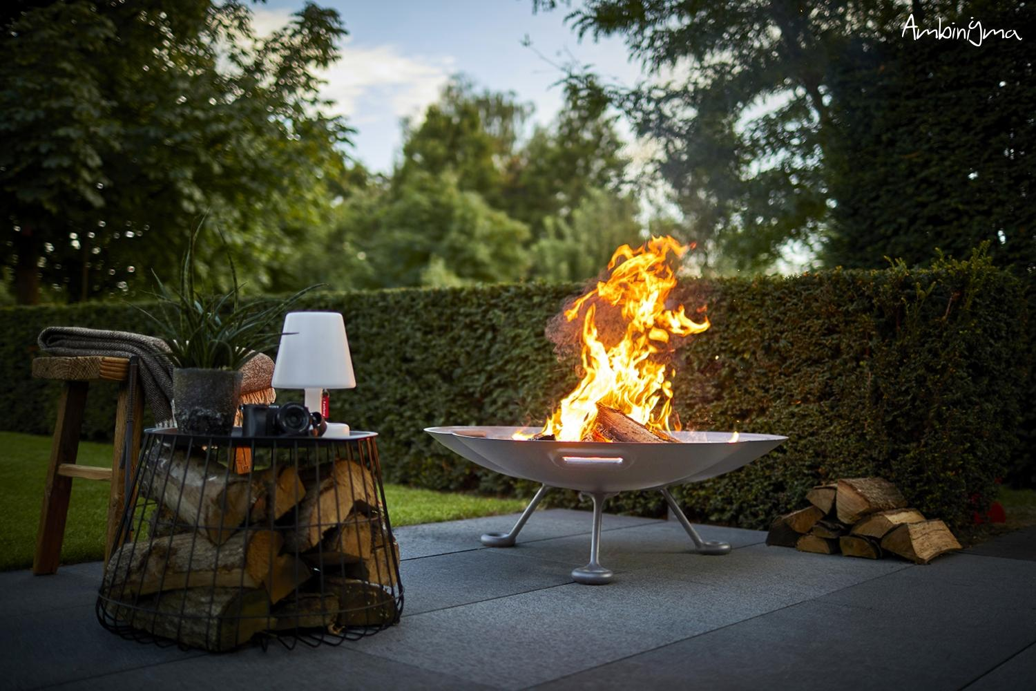 Fire Pit exterior a Lenha  Modelo RB73 lotus HIGHT